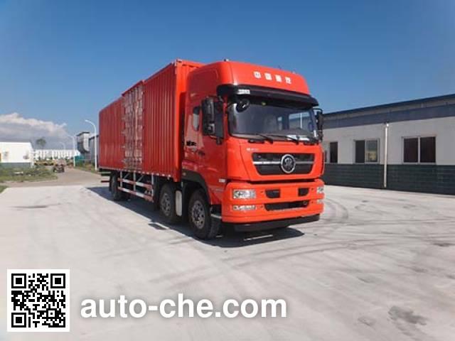 Автофургон с подъемными бортами (фургон-бабочка) Qingzhuan QDZ5250XYKZJM5GE1