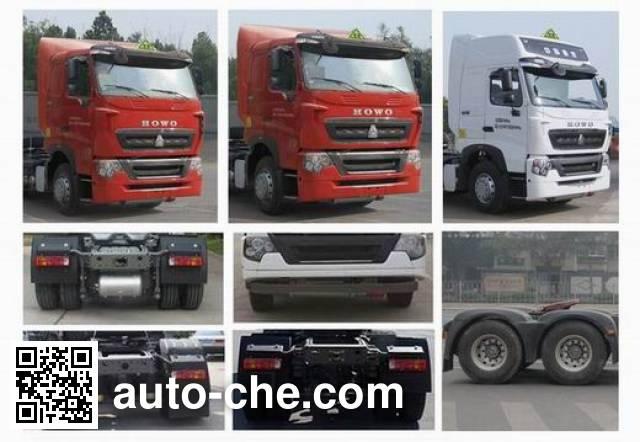 Sinotruk Howo седельный тягач для перевозки опасных грузов ZZ4257N324WE1W