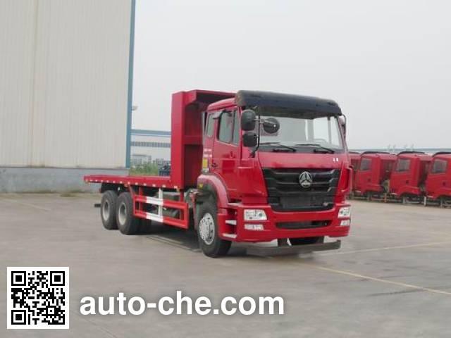 Грузовик с плоской платформой Sinotruk Hohan ZZ5255TPBM4046D1